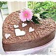 Chocolate Heart Shaped Wedding Cake