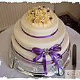 Ivory 3 Tier Wedding Cake