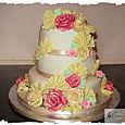 3 tier wedding cake by la creme patisserie