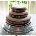 Chocolate 3 tier wedding cake