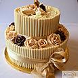 2 tier chocolate wedding cake