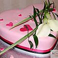 Heart shaped Ginger Wedding Cake