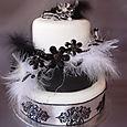 Black & White Wedding Cake L