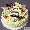 White Chocolate Birthday Cake L