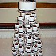 Individual Black and white Wedding cakes