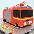 Fire Engine birthday Cake