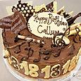 Musical Chocolate 18th Birthday Cake
