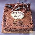 Chocolate Birthday cake with tools