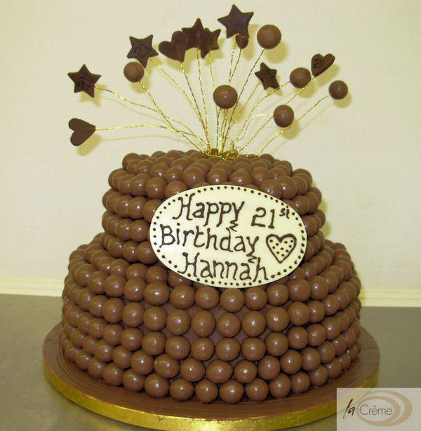 Chocolate Malteser 21st Birthday Cake - La Creme Patisserie Blog