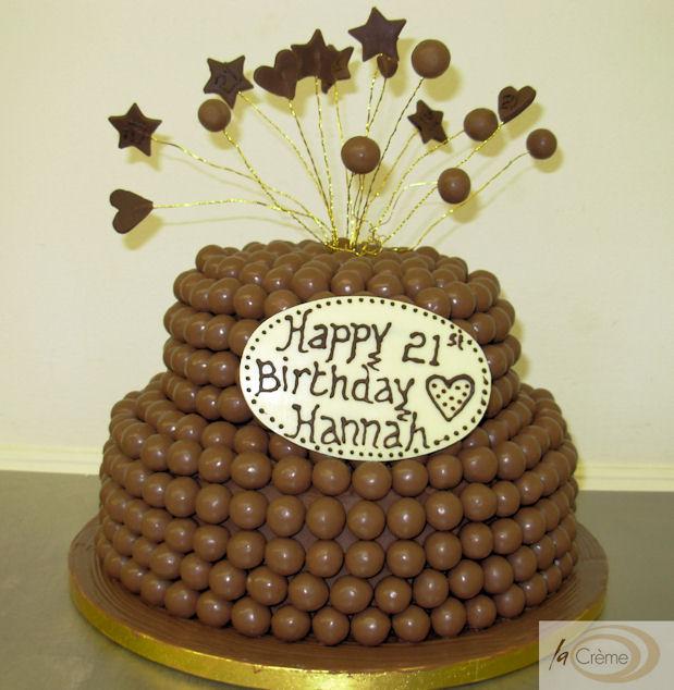 Chocolate Malteser 21st Birthday Cake La Creme Patisserie Blog