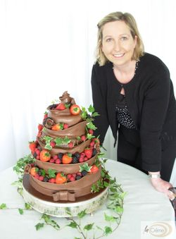 5 Tier Chocolate Wedding Cake by Sian Hindle