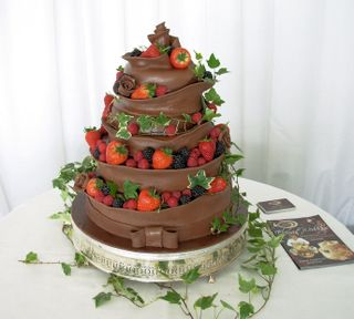 5 Tier Chocolate Wedding Cake