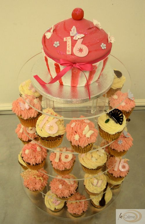 Birthday Party Cup Cakes. Latest cup cakes from La Creme are for a 16th