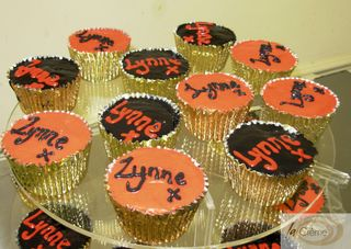 Red and Black cup cakes