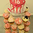 Sweet 16 cup cakes