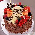 Fruit & Chocolate Birthday Cake