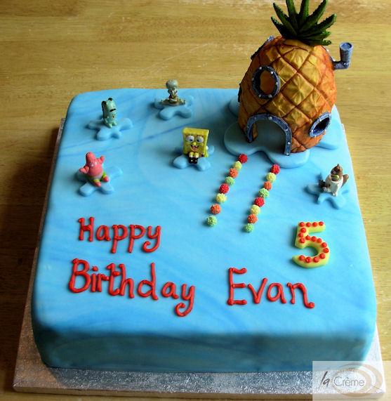 Sponge bob Birthday Cake La Creme Patisserie Blog