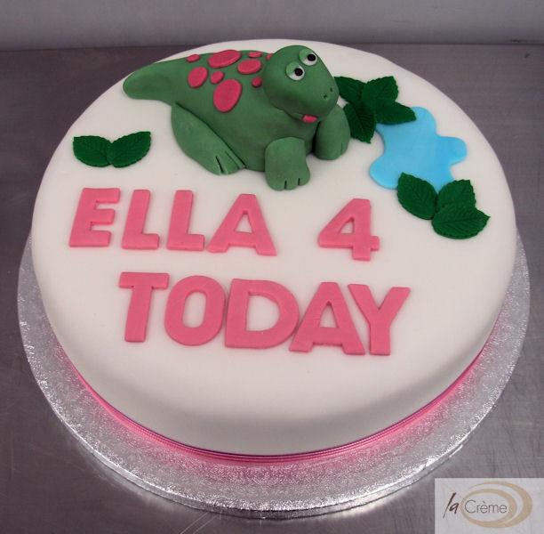 Dinosaur 4th Birthday Cake La Creme Patisserie Blog