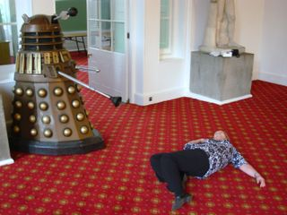 Sian Hindle stunned by Dalek