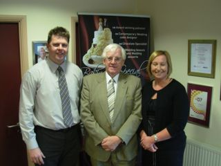 NPT Council leader Ali Thomas with Sian & Ian Hindle
