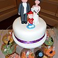 Plain Iced Top Tier with figures
