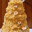 4 Tier Chocolate Fan Wedding Cake2