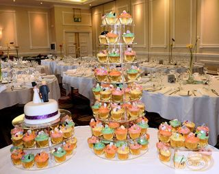 Wave Wedding Cup Cakes