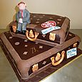 Suitcase Cake for the Atlantic Hotel