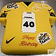 Tour de France Yellow Jersey 40th Birthday Cake