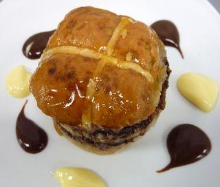 Hot Cross Bread & Butter Pudding