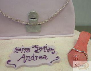 Diamante Handbag & Shoes 18th Birthday Cake
