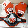 21st Boxing Gloves Birthday Cake