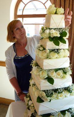 Ivory Wedding Cake 8