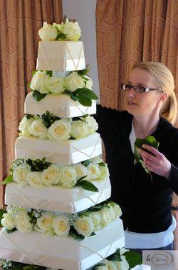 Ivory Wedding Cake 11