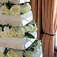 Ivory Wedding Cake 1
