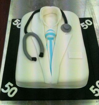 Doctor's 50th Birthday Cake
