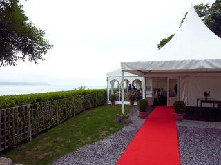 Wedding Marquee overlooking Oxwich Bay, Gower, Swansea