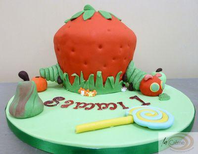 La Creme Hungry Caterpillar Birthday Cake