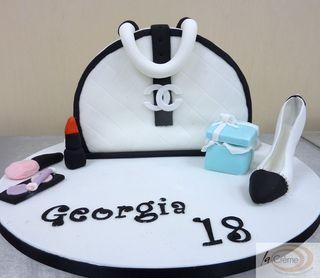 Chanel Handbag 18th Birthday Cake S