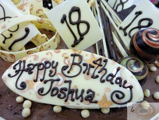 Chocolate 18th Birthday Cake Design