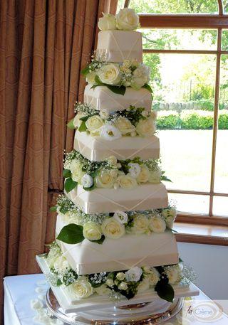 5 Tier Ivory Wedding Cake 5
