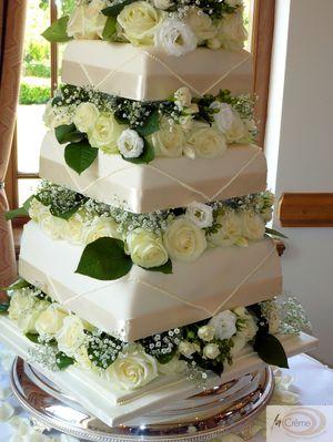 Ivory Wedding Cake 6