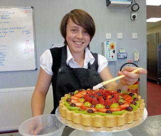 Mel making fruit tarts