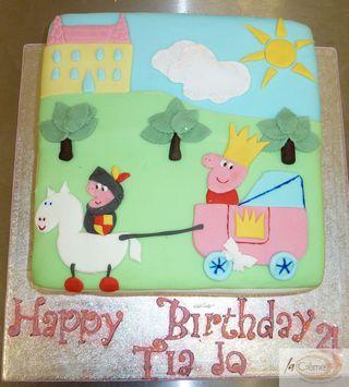 La Creme Peppa Pig The Brave Birthday Cake