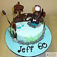 Gone Fishing 60th Birthday Cake s
