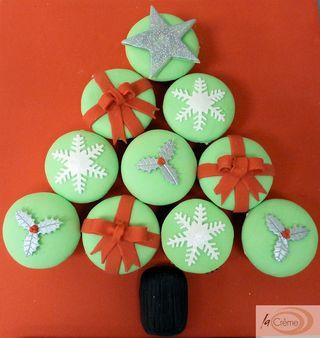 Christmas Tree Cupcakes s