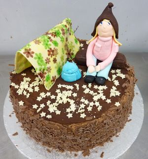 Camping Chocolate Birthday Cake