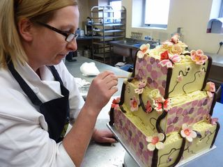 Japanese Garden Chocolate Wedding Cake