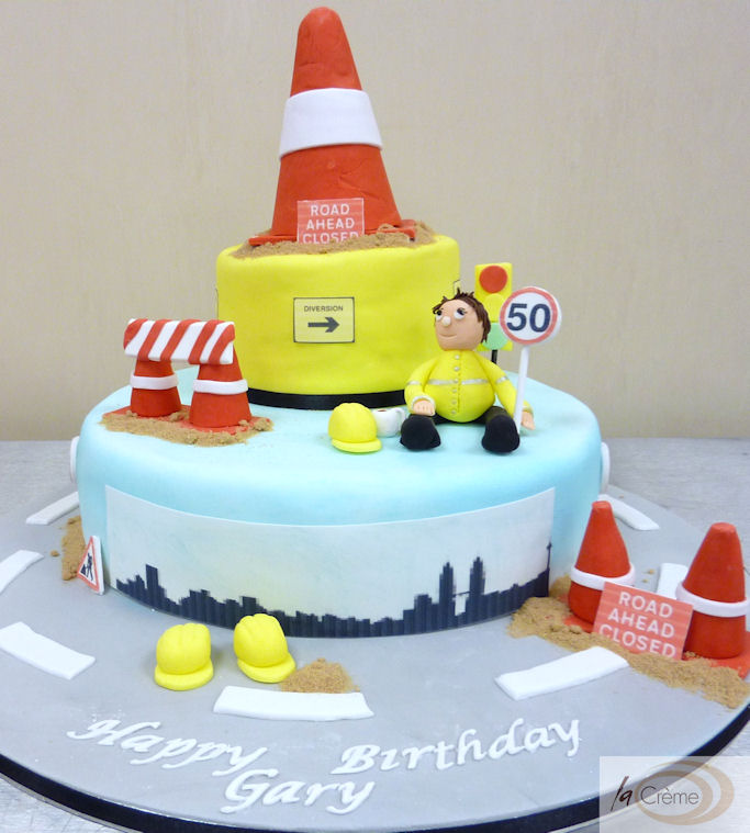 50th Birthday Cake For Civil Engineer La Creme Patisserie Blog