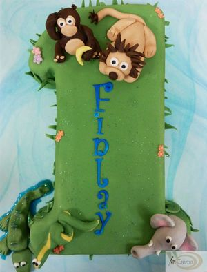 Animal 1st Birthday Cake s